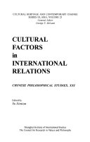 Cultural Factors in International Relations