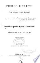 Public health  The Lomb prize essays Book PDF