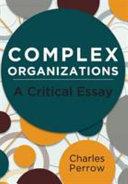 Complex Organizations