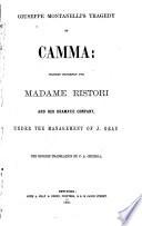 Giuseppe Montanelli s Tragedy of Camma