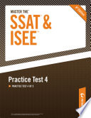Master the SSAT ISEE  Practice Test 4