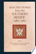 Selected Stories from the Southern Review Book PDF