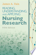 Reading  Understanding  and Applying Nursing Research