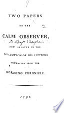 Two Papers By The Calm Observer