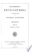 CHAMBERS S ENCYCLOPAEDIA A DICTIONARY OF UNIVERSAL KNOWLEDGE