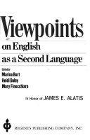 Viewpoints on English as a second language in honor of James E  Alatis