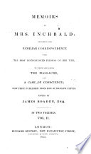 Memoirs of Mrs  Inchbald
