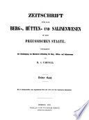 Zeitschrift für das Berg-, Hütten- und Salinenwesen im Deutschen Reich