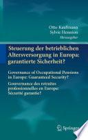 illustration Steuerung der betrieblichen Altersversorgung in Europa: garantierte Sicherheit?