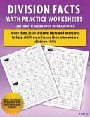 Division Facts Math Practice Worksheet Arithmetic Workbook with Answers