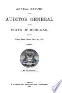 Annual Report of the Auditor General of the State of Michigan for the Year Ending June 30