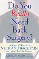 Do You Really Need Back Surgery