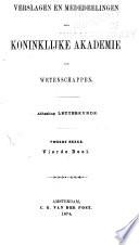 Verslagen en mededeelingen der Koninklijke Akademie van Wetenschappen, Afdeeling Letterkunde