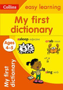 Collins My First Dictionary Ages 4 5  Collins Easy Learning Preschool