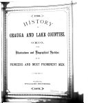 History of Geauga and Lake Counties  Ohio  with Illustrations and Biographical Sketches of Its Pioneers and Most Prominent Men