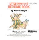 Little Monster s Bedtime Book