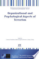 Organizational And Psychological Aspects Of Terrorism