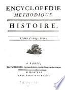Encyclop  die M  thodique  Histoire