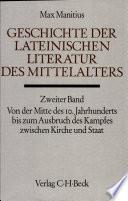 Geschichte der lateinischen Literatur des Mittelalters