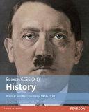 Edexcel GCSE  9 1  History Weimar and Nazi Germany  1918 1939 Student Book