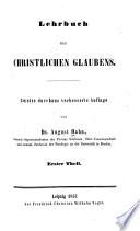 Lehrbuch des christlichen Glaubens