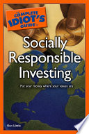 The Complete Idiot S Guide To Socially Responsible Investing