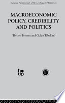 Macroeconomic Policy  Credibility and Politics