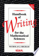 Handbook Of Writing For The Mathematical Sciences book