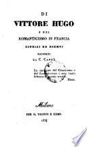 Di Vittore Hugo e del romanticismo in Francia