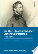 Die Thun Hohenstein schen Universit  tsreformen 1849   1860