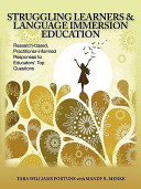 Struggling Learners   Language Immersion Education