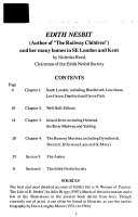 Edith Nesbit in South East London and Kent