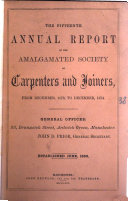 download ebook the fifteenth annual report of the amalgated society of carpenters and joiners pdf epub