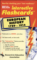 European History 1789 1914 Interactive Flashcard Book