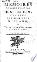 Mémoires de Mademoiselle de Sternheim