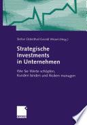 Strategische Investments in Unternehmen