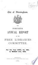 Annual Report of the Free Libraries Committee