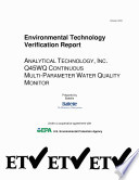 Analytical Technology  Inc  Q45WQ Continuous MultiParameter Water Quality Monitor
