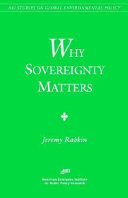 Why Sovereignty Matters