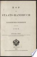 Hof- und Staats-Handbuch des Kaiserthumes Österreich