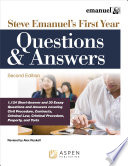 Steve Emanuel s First Year Questions and Answers