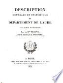 Etats de Languedoc et departement de l'Aude