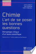 Chimie     L art de se poser les bonnes questions