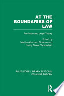 At the Boundaries of Law  RLE Feminist Theory