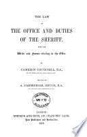 The Law of the Office and Duties of the Sheriff