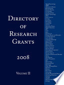 Directory Of Research Grants 2008 book