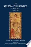 The Studia Philonica Annual XXVII  2015