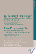 Du Document    L utilisateur