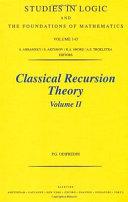 Classical Recursion Theory  Volume II Book PDF