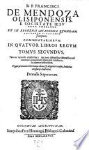 Commentarii in IV libros regum  Nunc primum in Germania editi et revisi